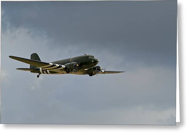 Dc-3 Greeting Cards - Douglas C-47 Dakota Greeting Card by Gary Eason