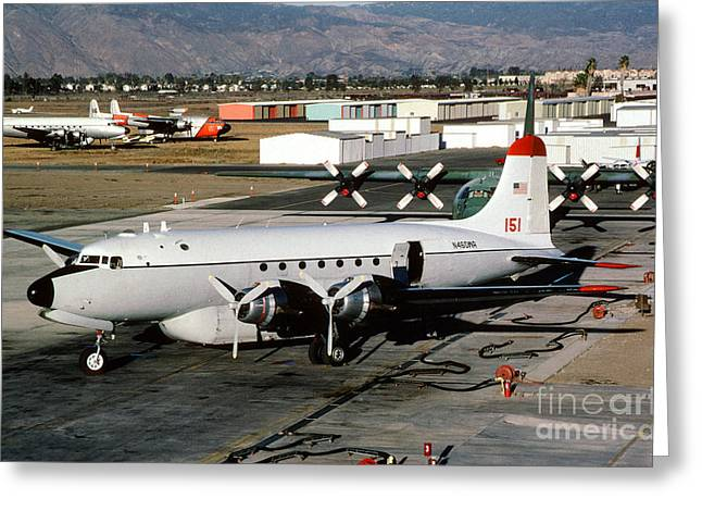 Fixed Wing Multi Engine Greeting Cards - Douglas C-54E Firefighting Airtanker N460WA Greeting Card by Wernher Krutein