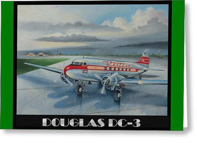 Douglas Dc-3 Greeting Card by Stuart Swartz
