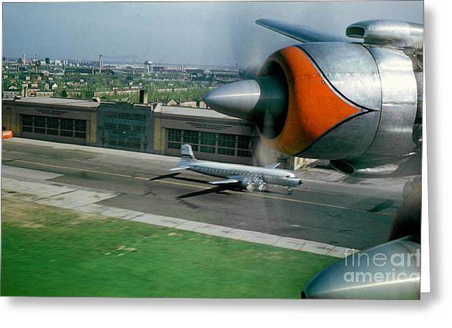 Fixed Wing Multi Engine Greeting Cards - Douglas DC-7 Taking off Greeting Card by Wernher Krutein