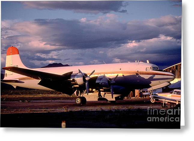 Fixed Wing Multi Engine Greeting Cards - Douglas DC4 Firefighting Airtanker Greeting Card by Wernher Krutein