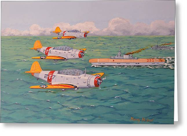 Murray Mcleod Paintings Greeting Cards - Douglas Devastators Greeting Card by Murray McLeod