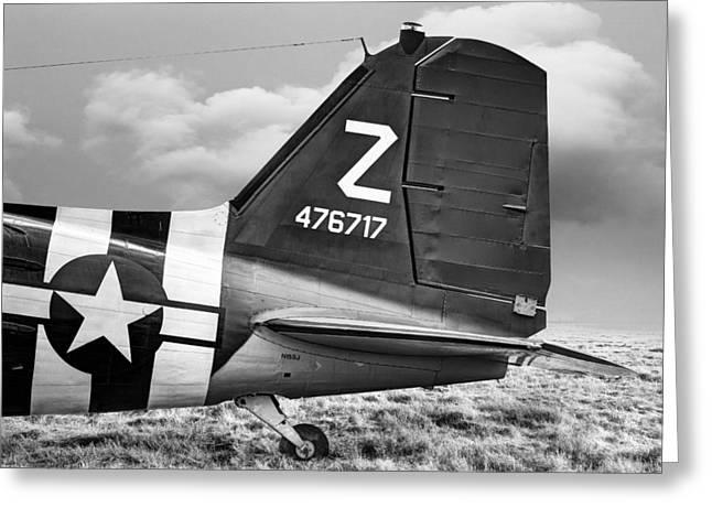 Douglass Greeting Cards - Douglass C-47 Skytrain Tail Section - Dakota Greeting Card by Gary Heller