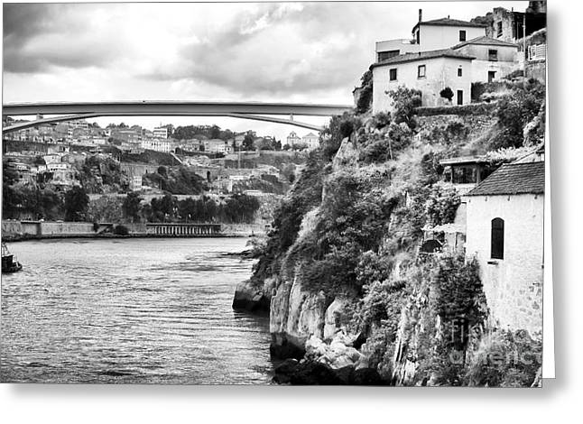 The Hills Greeting Cards - Douro River Landscape Greeting Card by John Rizzuto