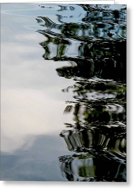 Oil Slick Greeting Cards - Dousing The Negative Greeting Card by Elizabeth Thankful Shannon