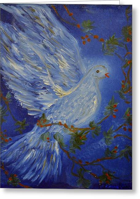 Louise Burkhardt Greeting Cards - Dove Spirit of Peace Greeting Card by Louise Burkhardt
