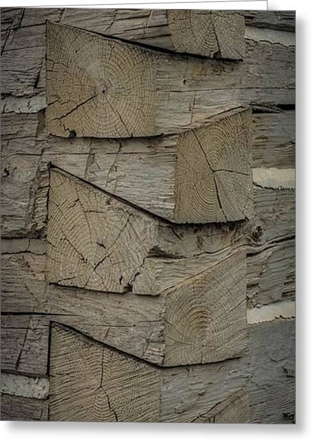 Log Cabins Greeting Cards - Dove tailed Log Cabin Greeting Card by Paul Freidlund