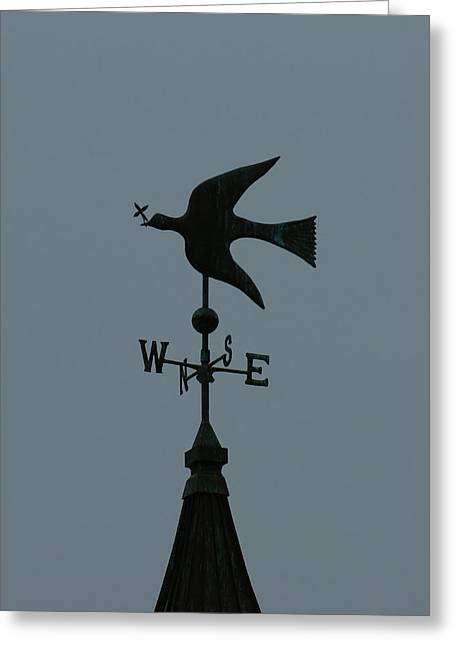 Weathervane Greeting Cards - Dove Weathervane Greeting Card by Ernie Echols