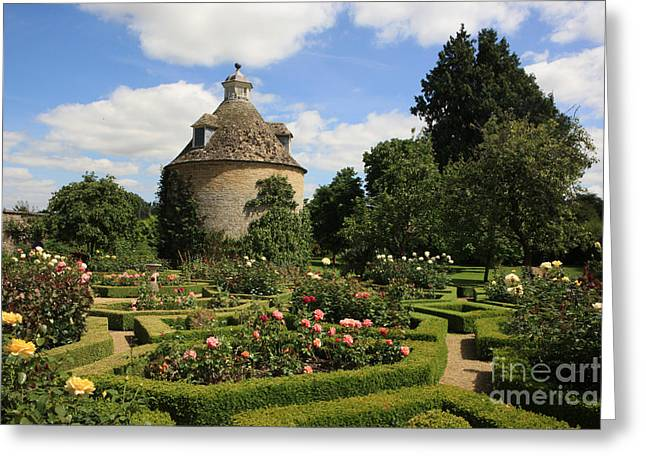 Charm Pyrography Greeting Cards - Dovecote in a Rose Garden  Greeting Card by Paul Felix