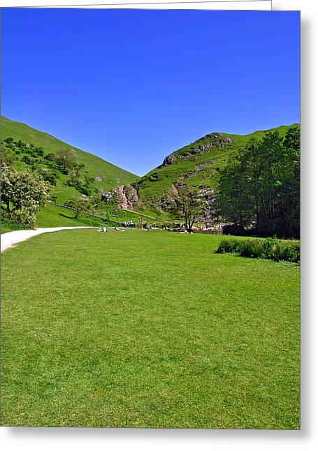 Dovedale - Stepping Stones Area Greeting Card by Rod Johnson