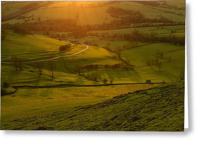 Peak District National Park Greeting Cards - Dovedale sunset 1 Greeting Card by Chris Fletcher