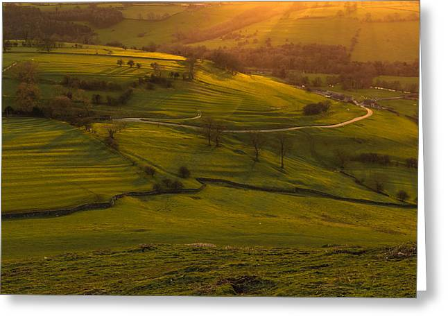 Peak District Greeting Cards - Dovedale sunset 2 Greeting Card by Chris Fletcher
