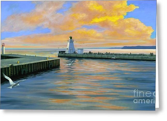 Michael Swanson Greeting Cards - Dover Evening Greeting Card by Michael Swanson