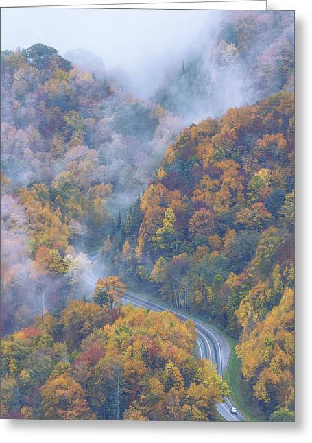 North Carolina Mountains Greeting Cards - Down Below Greeting Card by Chad Dutson