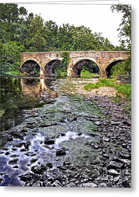 Warwick Digital Greeting Cards - Down by the Crick Greeting Card by Tim Kravel