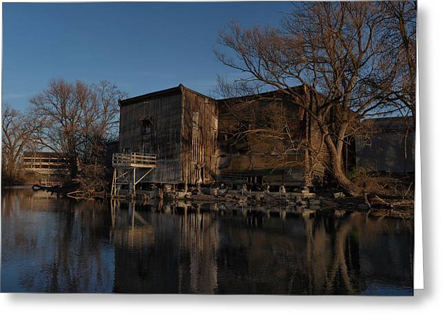 Finger Lakes Greeting Cards - Down by the Docks in Color Greeting Card by Joshua House