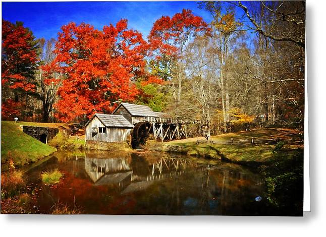 Down by the Old Mill Stream  Greeting Card by Lynn Bauer