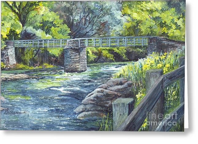 Rocks Drawings Greeting Cards - Down By The River Greeting Card by Carol Wisniewski