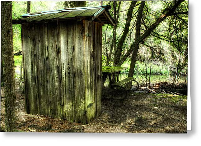 Wooden Shed Greeting Cards - Down By The River Greeting Card by Michael Eingle
