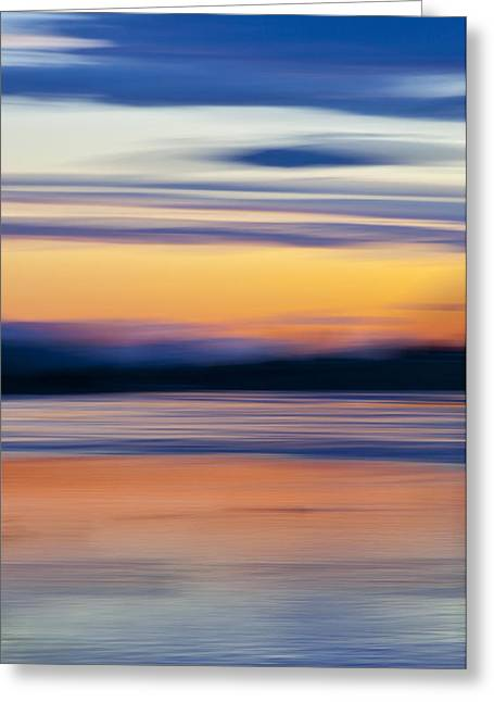 Sunset Prints Greeting Cards - Down By The River Greeting Card by Theresa Tahara