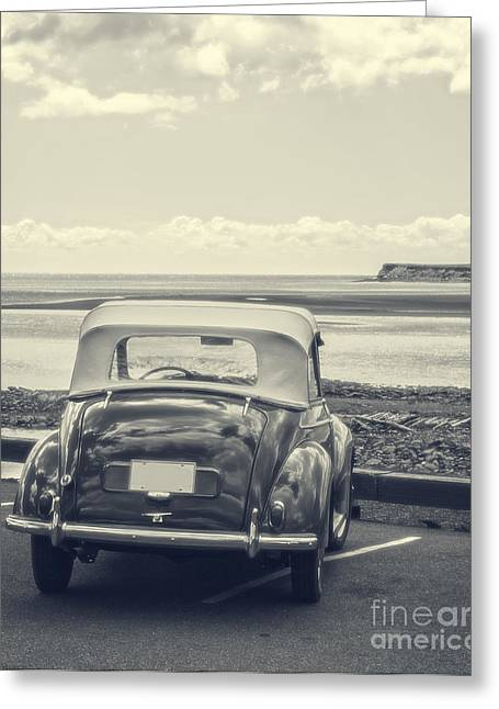 Parking Greeting Cards - Down by the shore Greeting Card by Edward Fielding