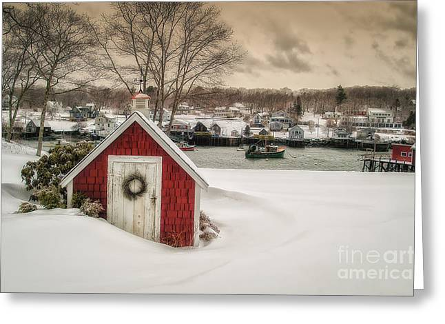 Coastal Maine Greeting Cards - Down East Seasons Greetings Greeting Card by Scott Thorp