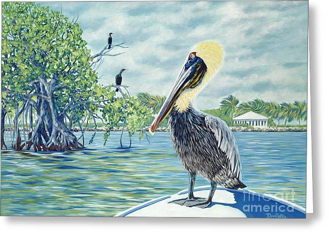Down In The Keys Greeting Card by Danielle  Perry