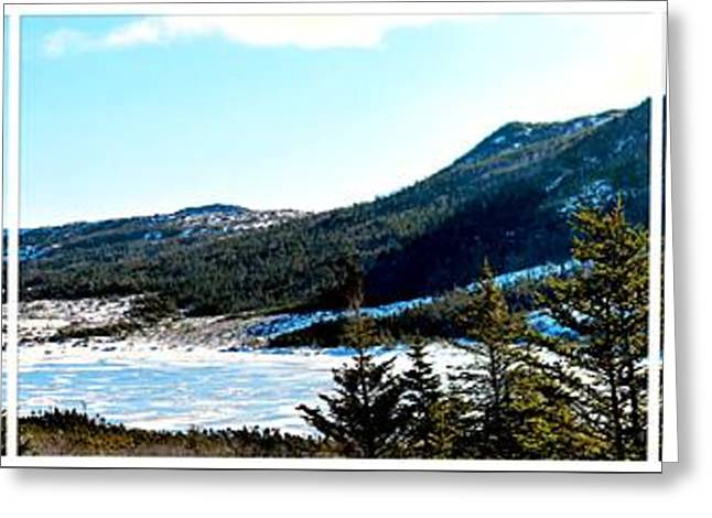 Down In The Valley Triptych Greeting Card by Barbara Griffin