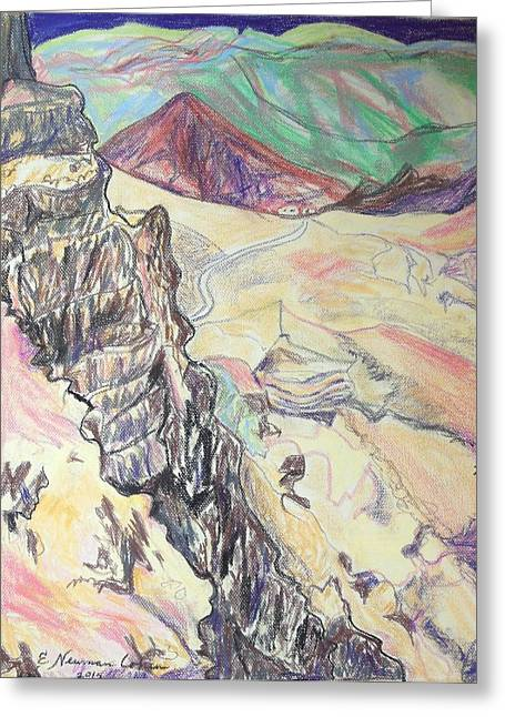 Pastel Mountains Metal Prints Greeting Cards - Down Masada Greeting Card by Esther Newman-Cohen