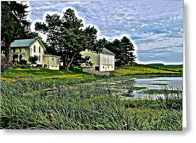 Amish Farms Greeting Cards - Down on the Farm Greeting Card by Frozen in Time Fine Art Photography