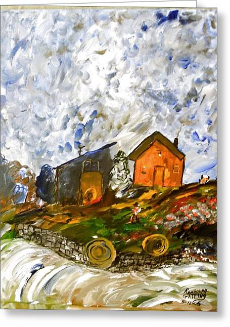 Countrylife Greeting Cards - Down on the farm Greeting Card by Randolph Gatling