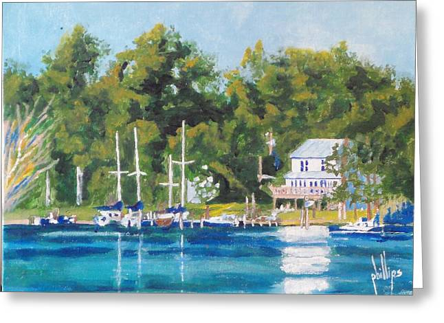 Recently Sold -  - Jacksonville Greeting Cards - Down on the River Greeting Card by Jim Phillips