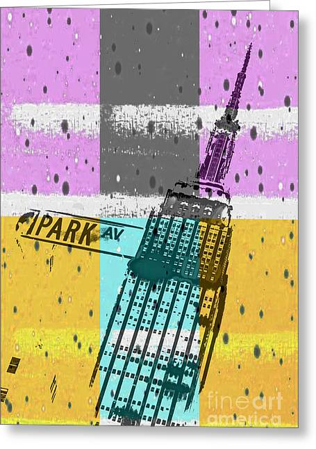 Manhattan Greeting Cards - Down Park Av Greeting Card by Az Jackson