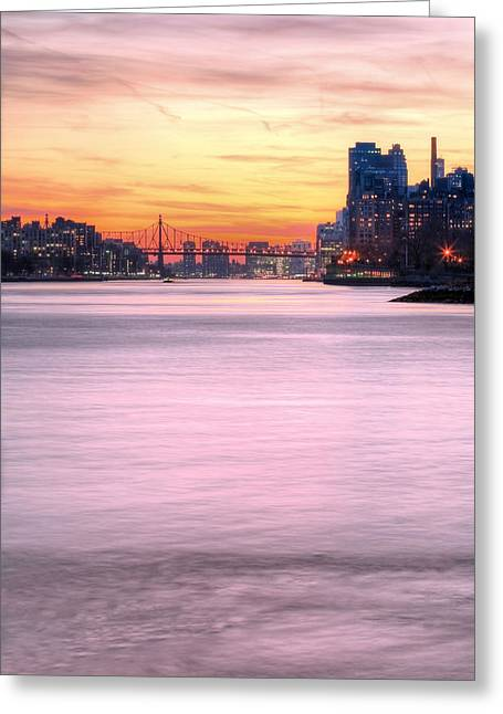 Harlem River Greeting Cards - Down River II Greeting Card by JC Findley