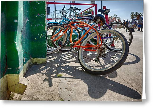 Down Spout And Bikes Greeting Card by Scott Campbell