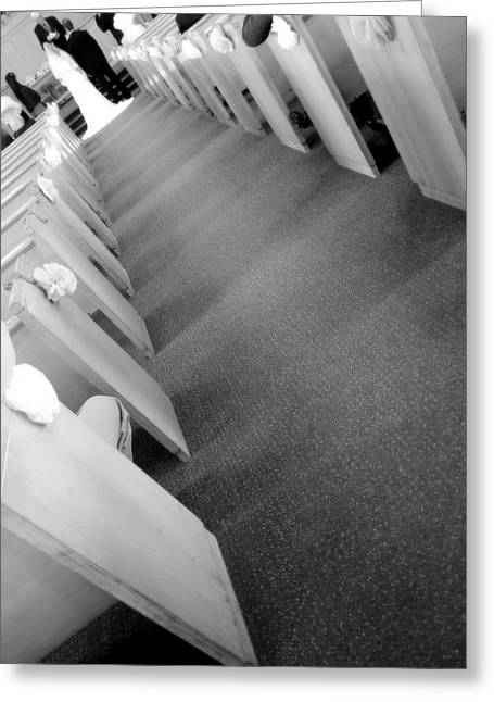 Faithfulness Greeting Cards - Down the Aisle Greeting Card by Valentino Visentini