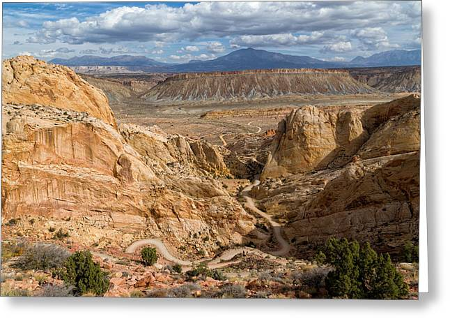 Slickrock Greeting Cards - Down the Burr Trail Greeting Card by Kathleen Bishop