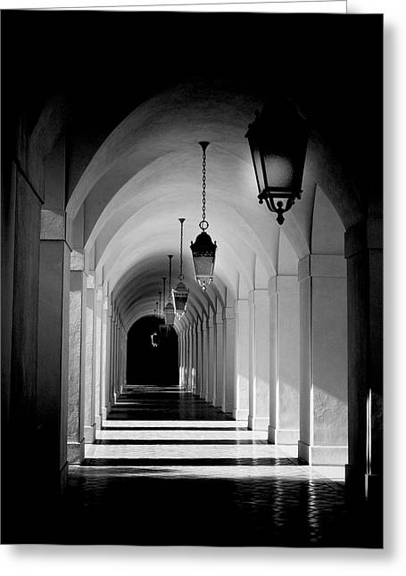 Down The Hall Greeting Card by Aron Kearney
