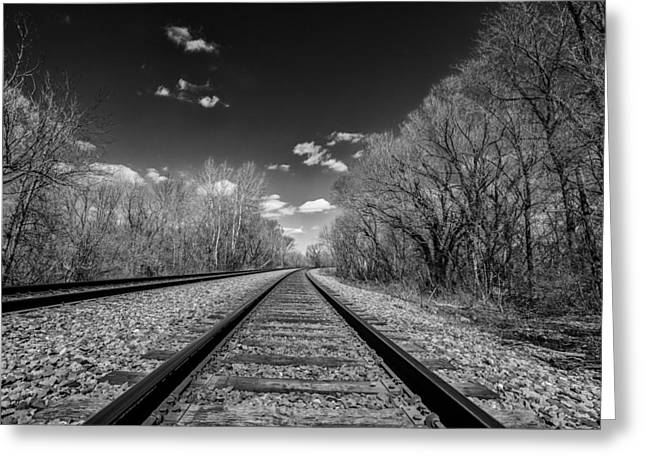 Nik Silver Efex 2 Greeting Cards - Down the Line Greeting Card by CJ Schmit