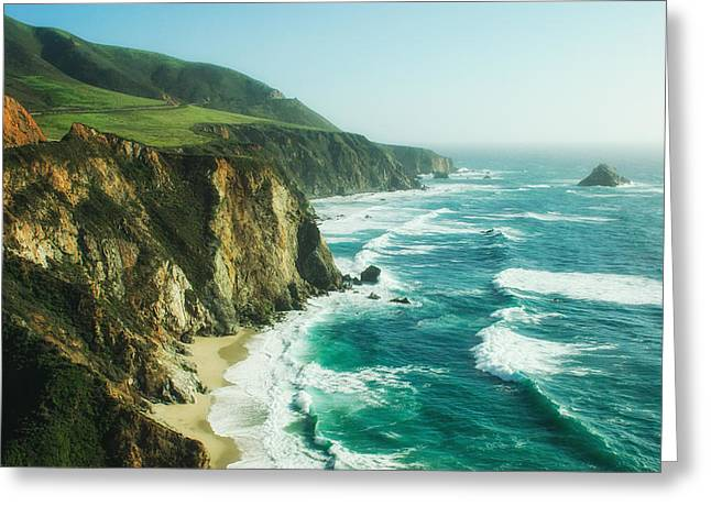 Big Sur Beach Greeting Cards - Down the Pacific Coast Highway... Greeting Card by Photography  By Sai