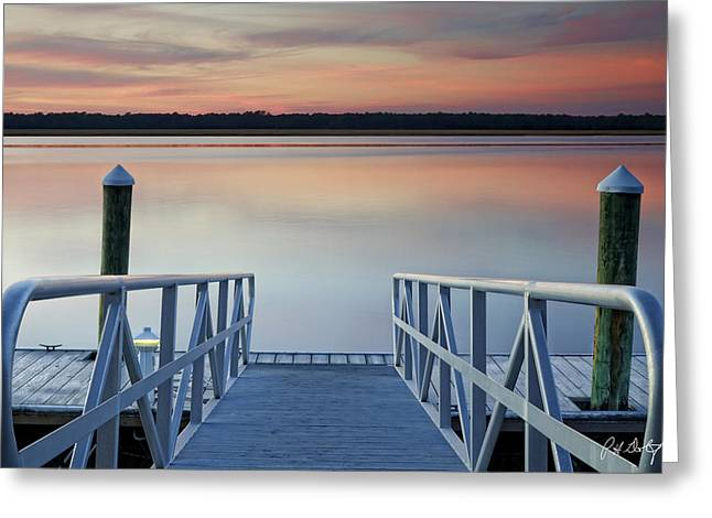 Beaufort County Greeting Cards - Down The Ramp Greeting Card by Phill  Doherty