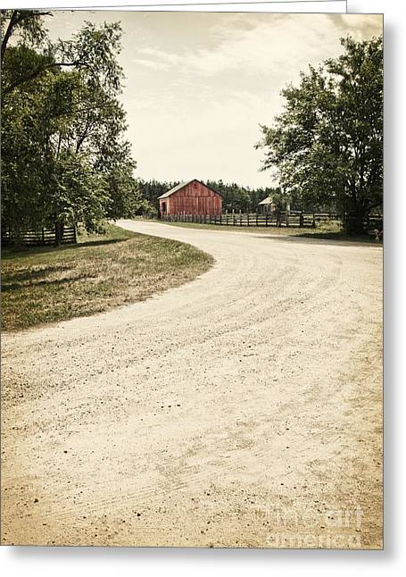 Down The Road Greeting Card by Margie Hurwich