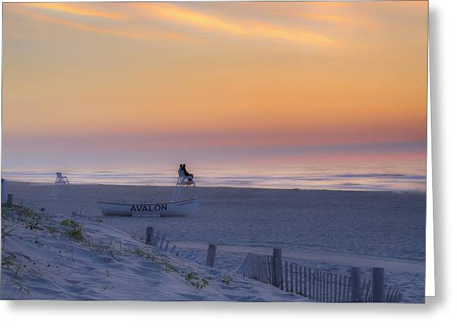 Down The Shore Greeting Cards - Down the Shore - Avalon New Jersey Greeting Card by Bill Cannon