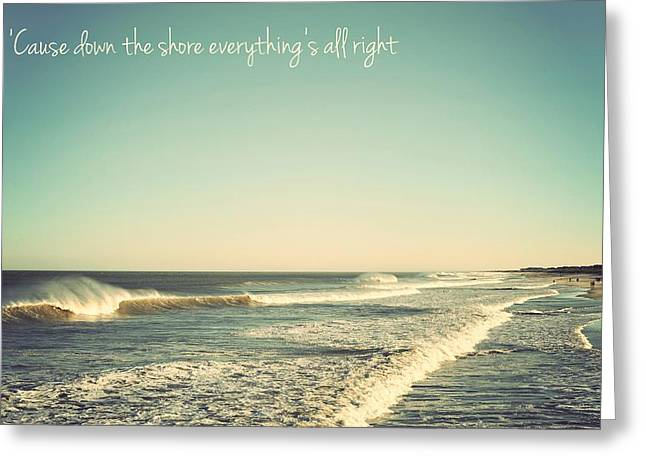 Terry Greeting Cards - Down the Shore Seaside Heights Vintage Quote Greeting Card by Terry DeLuco