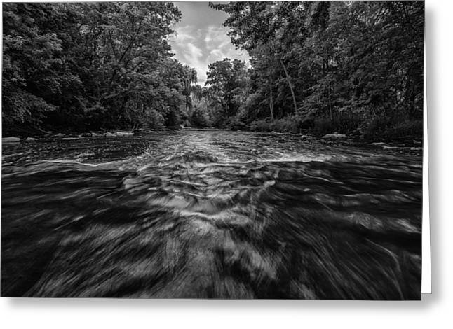 Nik Silver Efex 2 Greeting Cards - Down Through the Middle Greeting Card by CJ Schmit