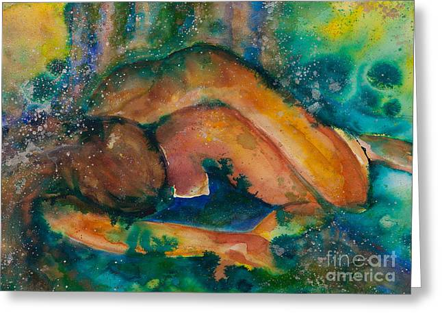 Empower Greeting Cards - Down to Earth Up to Me Greeting Card by Ilisa  Millermoon