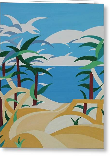 Sand Patterns Greeting Cards - Down to the Water Greeting Card by Bo Hammar