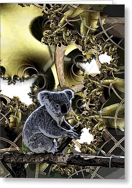Koala Digital Greeting Cards - Down Under Greeting Card by Ron Bissett