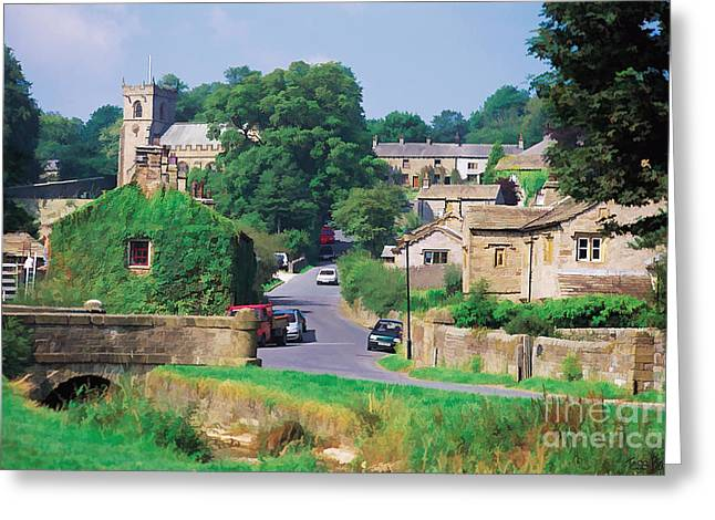 Downham In Lancashire Greeting Card by Tess Baxter