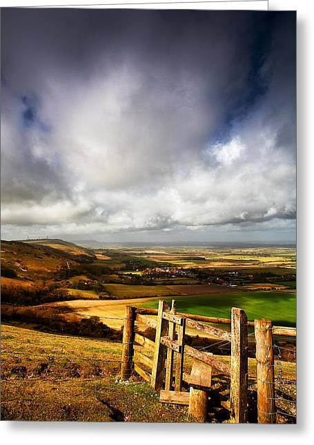 Downland Stile Greeting Card by Kris Dutson